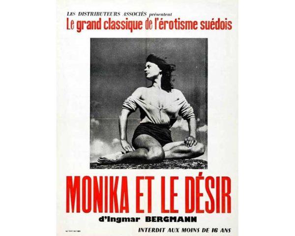 Affiche 50x70cm – MONIKA ET LE DESIR / Ingmar Bergman