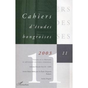 Cahiers d'études hongroises N° 11