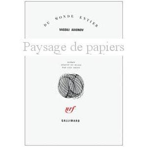 AXIONOV Vassili : Paysage de papiers