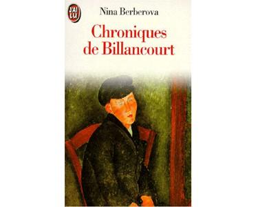 BERBEROVA Nina: Chroniques de Billancourt. Récits