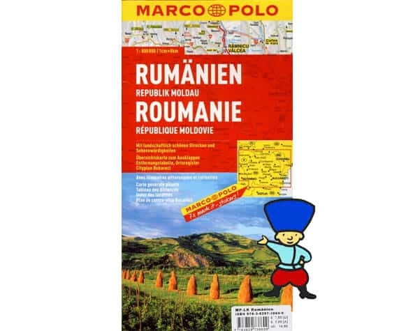 Marco Polo – Roumanie, République de Moldavie – 1/800 000