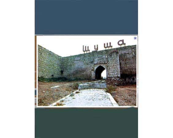 Plan-Guide d'information Shusha (Nagorny-Karabakh) en anglais