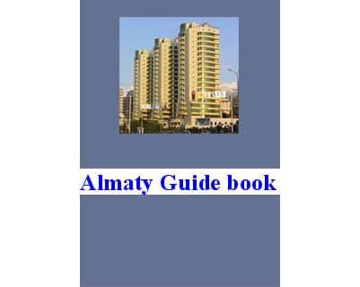 Guide de Almaty en anglais, russe 'Guide-book' (Kazakhstan)